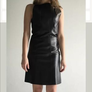 Proenza Schouler black leather dress  Size 4 SMALL